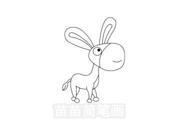 小毛驴简笔画图片大全 教程