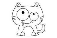 猫咪简笔画图片大全、教程