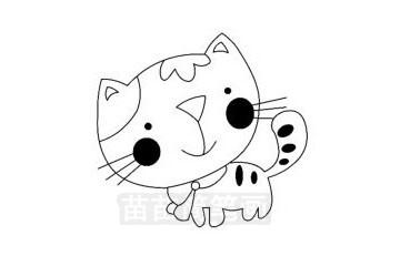 猫咪简笔画图片大全 教程