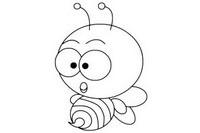 蜜蜂简笔画图片大全、画法