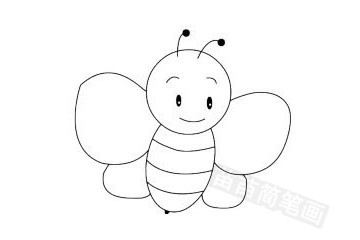蜜蜂简笔画图片大全 画法
