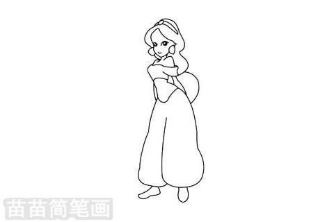 茉莉公主簡筆畫圖片大全,教程