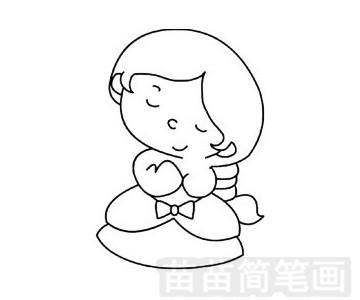 拇指姑娘简笔画图片大全 教程