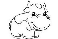 奶牛简笔画图片大全、教程