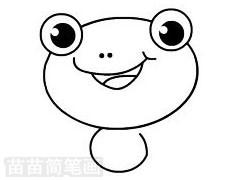 青蛙简笔画图片步骤三