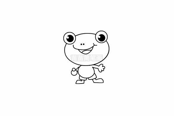 青蛙简笔画图片步骤四