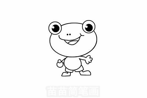 青蛙简笔画大图