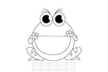 青蛙简笔画图片大全作品一