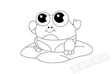 青蛙简笔画图片大全作品四