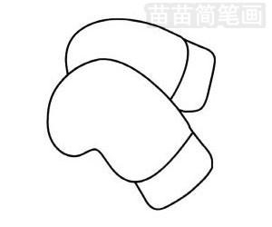 拳击手套简笔画图片步骤二