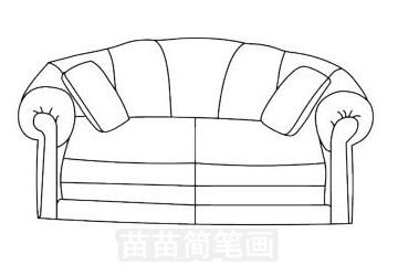 沙发简笔画图片大全,画法