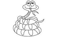 蟒蛇简笔画图片大全、教程