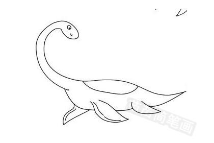 蛇颈龙简笔画图片大全作品五