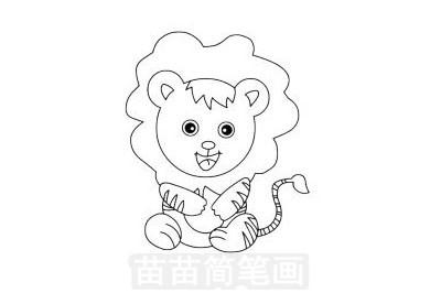 狮子简笔画图片大全 画法
