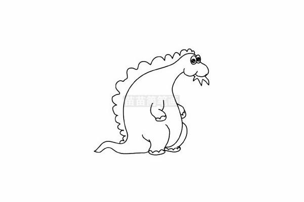 食草龙简笔画图片步骤五