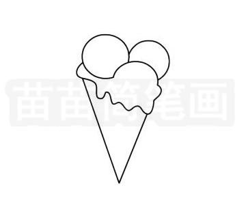 食品简笔画图片步骤二