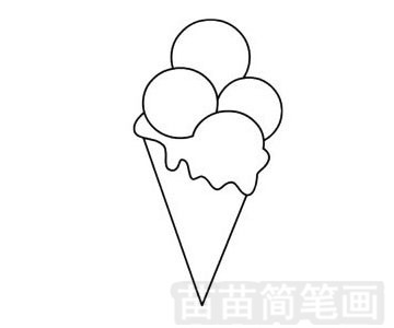 食品简笔画图片步骤三