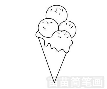 食品简笔画图片步骤四