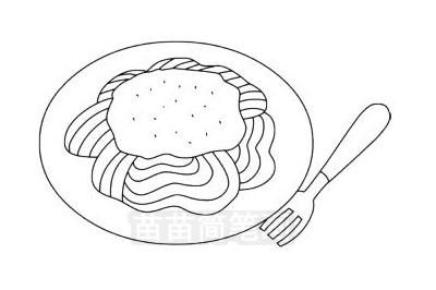 食品简笔画图片大全作品三