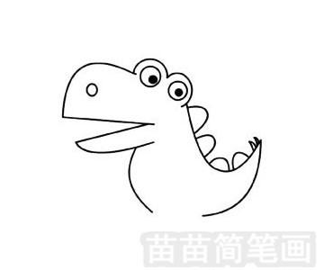 似鳄龙简笔画图片步骤三