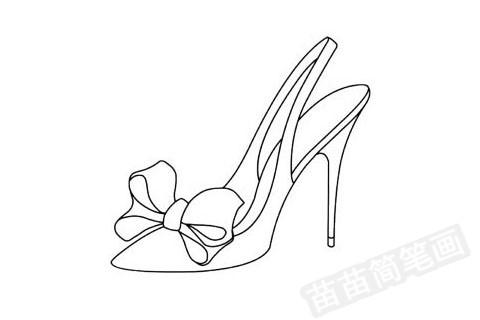 水晶鞋简笔画图片大全,教程