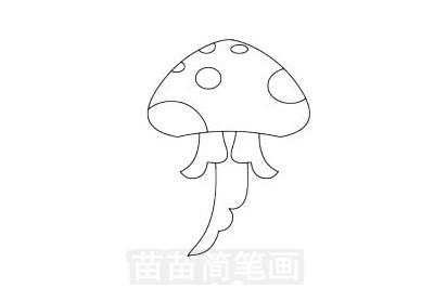 水母简笔画图片大全 教程