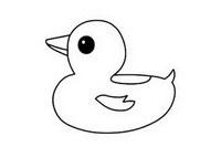 鸭子简笔画图片步骤教程