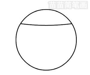 台球简笔画图片步骤二