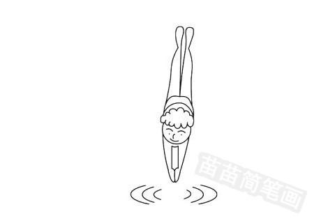 跳水运动员简笔画图片大全作品五