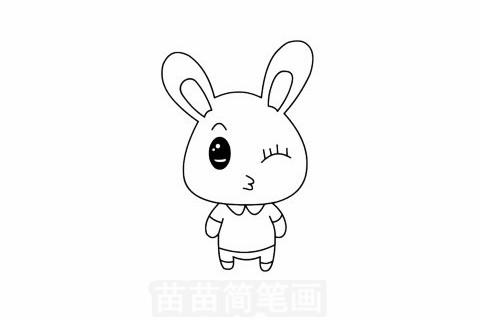 简笔画 动物简笔画 家禽家畜简笔画 >> 正文内容   兔子简笔画分步骤
