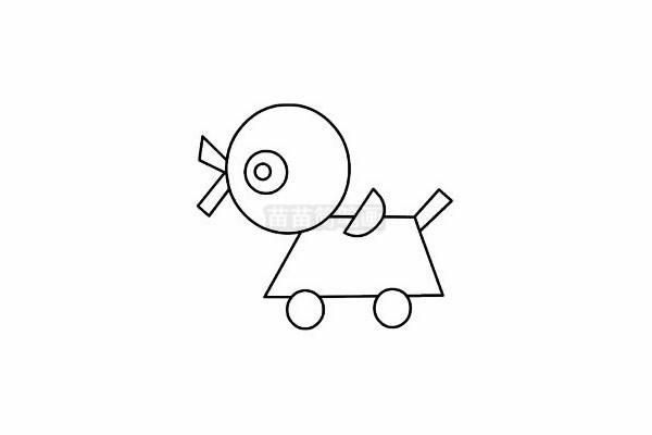 玩具简笔画图片步骤五