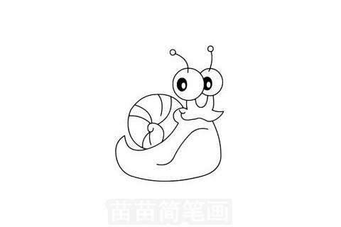 蜗牛简笔画怎么画 图片大全