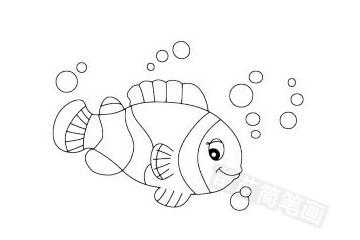 小丑鱼简笔画图片大全 教程
