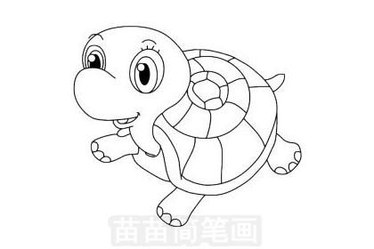 简笔画 动物简笔画 野生动物简笔画 >> 正文内容   小乌龟简笔画分