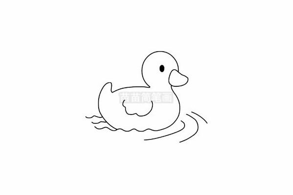小鸭子简笔画图片步骤五