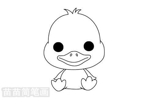 小鸭子简笔画图片大全作品二