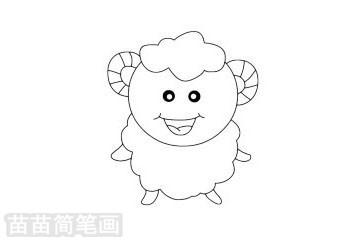 小羊简笔画图片大全,教程