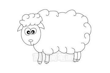 小羊简笔画图片大全作品三