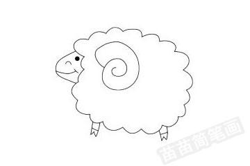 小羊简笔画图片大全作品四