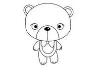 小熊简笔画图片大全、教程