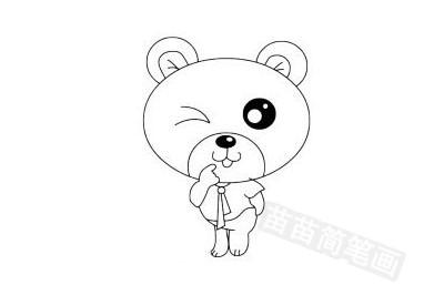 小熊简笔画图片大全,教程图片