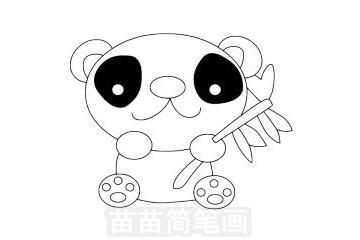 熊猫简笔画图片大全,画法