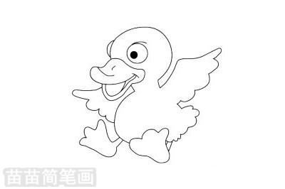鸭子简笔画图片大全 画法图片