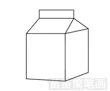 饮料简笔画图片步骤三
