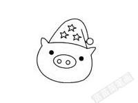 小猪简笔画图片步骤三