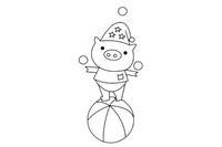 小猪简笔画简单画法