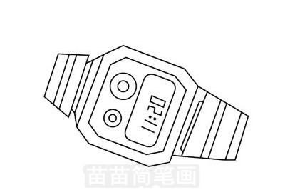 运动手表简笔画图片大全,教程