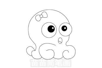章鱼简笔画图片大全 教程