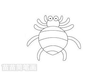 蜘蛛简笔画图片大全作品二