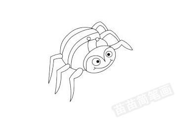 蜘蛛简笔画图片大全作品四